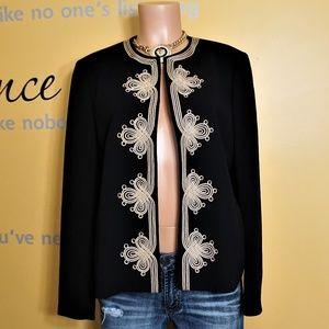 Nipon Boutique Embroidery Blazer Jacket Size 12